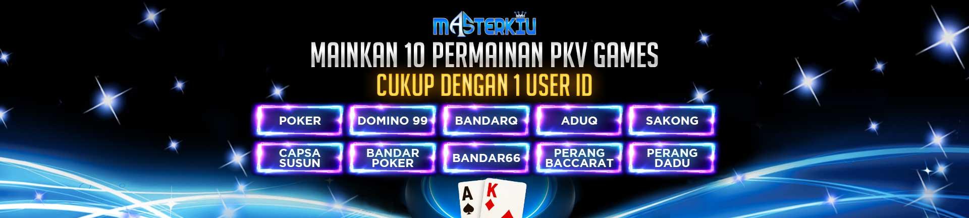 tersedia 10 permainan pkv games di masterkiu